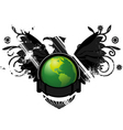 green earth conservation emble vector image vector image