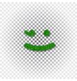 green grass wink smile 3d smiley grassy emoticon vector image