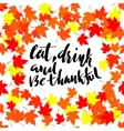 Happy Thanksgiving lettering Greeting text and vector image