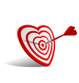 heart dart vector image vector image