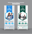 hexagonal medical roll up banners vector image