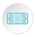 ice hockey rink icon circle vector image vector image