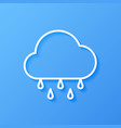 icon weather rine and cloud vector image