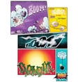 Image comic book pages with different background vector image vector image