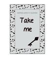 Invitation postcard Take Me Key from Wonderland vector image vector image