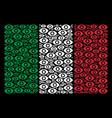 italian flag mosaic of eye icons vector image vector image