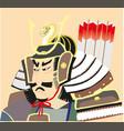 japanese samurai graphic eps10 vector image vector image