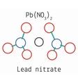 Lead nitrate PbN2O6 molecule vector image vector image