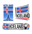 logo for iceland vector image