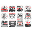 music and sound recording studio instrument icons vector image