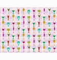 pattern of wine glasses vector image