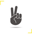 peace hand gesture icon vector image vector image