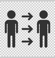 people referral icon in flat style business vector image vector image