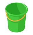 plastic bucket icon isometric style vector image vector image