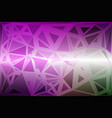purple green pink random sizes low poly background vector image vector image