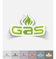 realistic design element GAS vector image vector image