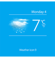 Realistic weather icon clouds with snow vector image vector image