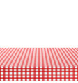 red corner tablecloth on white background stock vector image vector image