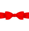 red textile bow and ribbon vector image vector image