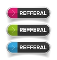 Referral button bubble set vector image