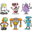 robots cartoon set vector image vector image