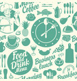 seamless background on theme food and drink