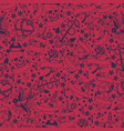 seamless pattern with graphic tattoo symbols vector image