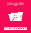 search folder icon graphic elements for your vector image