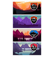 set banner templates with mountains design vector image vector image