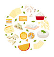set cheeses vector image vector image