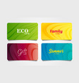 Set colourful cards or vouchers with abstract