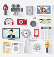 set icons telecommunications vector image vector image