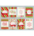 Set of christmas brochures templates vector image vector image