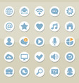 set of universal web icons for media vector image vector image