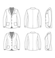 Simple outline drawing of a blazer vector image vector image