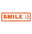 Smile Rubber Stamp vector image vector image