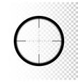sniper scope focus on target through scope vector image vector image