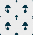 table lamp icon sign Seamless pattern with vector image