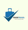 travel logo holidays tourism business trip vector image vector image