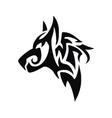 Tribal Dog Head vector image vector image