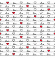 valentines day love quote heart seamless pattern vector image vector image