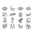 variety spa elements icons vector image vector image