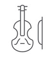 violin thin line icon music and instrument cello vector image vector image