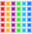 volumetric three-dimensional color seamless vector image