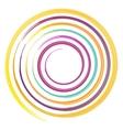 watercolor circles rainbow vector image vector image