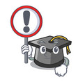 with sign graduation hat character cartoon vector image