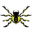 yellow striped spider vector image vector image