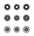 Gear wheels isolated on light background vector image