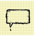 sketch speech bubble vector image