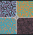 abstract seamless pattern animal print trendy vector image